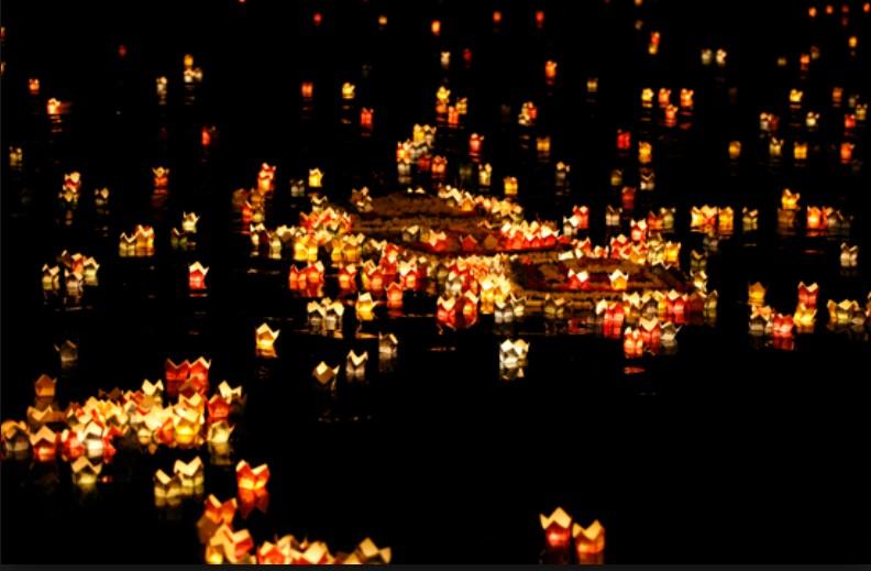 Hoa đăng mừng đại lễ Phật Đản
