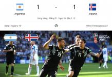 Messi hỏng phạt đền, Argentina 1-1 Iceland