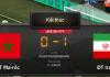 Kết quả trận Ma-rốc-Iran : 0-1 .Thất bại vào phút bù giờ thứ 5 cho Ma-rốc