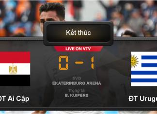Kết quả bóng đá World Cup 2018 : Uruguay thắng 1-0 Ai Cập