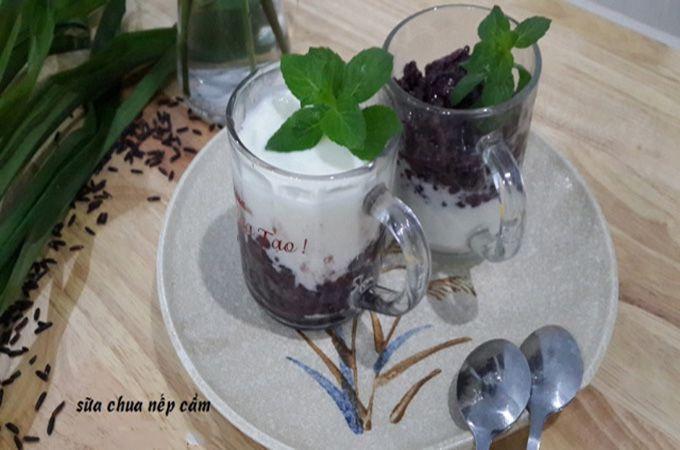 Cách làm sữa chua nếp cẩm ảnh 5