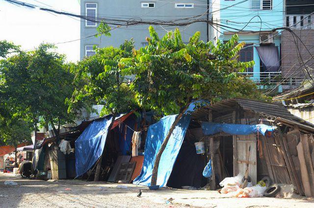 xóm trọ nghèo ở hà nội