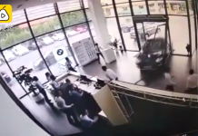 Lái thử BMW X1, nữ tài xế tông thẳng vào phá nát cả đại lý