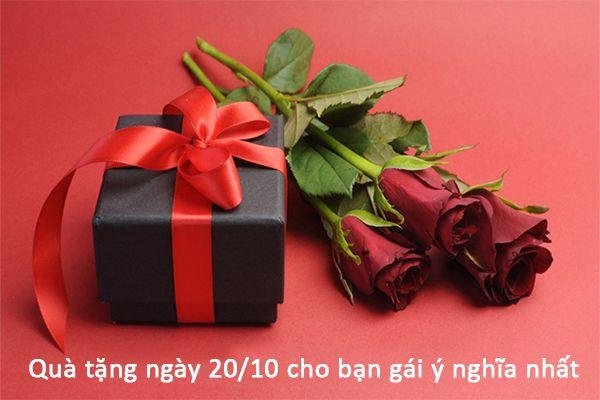 Quà tặng ngày 20/10 cho bạn gái ý nghĩa nhất