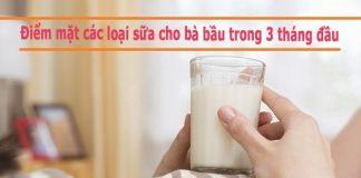 Điểm mặt các loại sữa cho bà bầu trong 3 tháng đầu