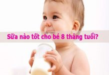 Sữa nào tốt cho bé 8 tháng tuổi