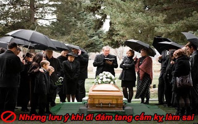 Những lưu ý khi đi đám tang