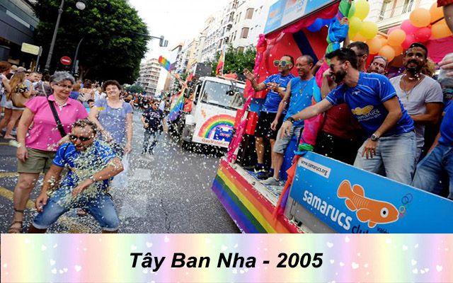 Những quốc gia chấp nhận hôn nhân đồng giới - tây ban nha