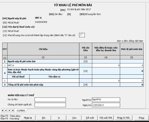 Thời hạn nộp tờ khai lệ phí môn bài cho doanh nghiệp mới