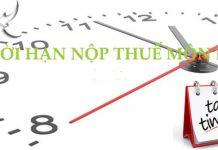 Thời hạn nộp thuế môn bài cho doanh nghiệp mới thành lập