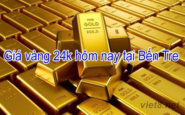 Giá vàng 24k hôm nay tại Bến Tre