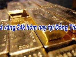 Giá vàng 24k hôm nay tại Đồng Tháp