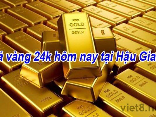 Giá vàng 24k hôm nay tại Hậu Giang