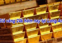 Giá vàng 24k hôm nay tại Long An