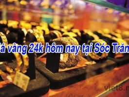 Giá vàng 24k hôm nay tại Sóc Trăng