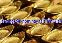 Giá vàng 24k hôm nay tại Tiền Giang