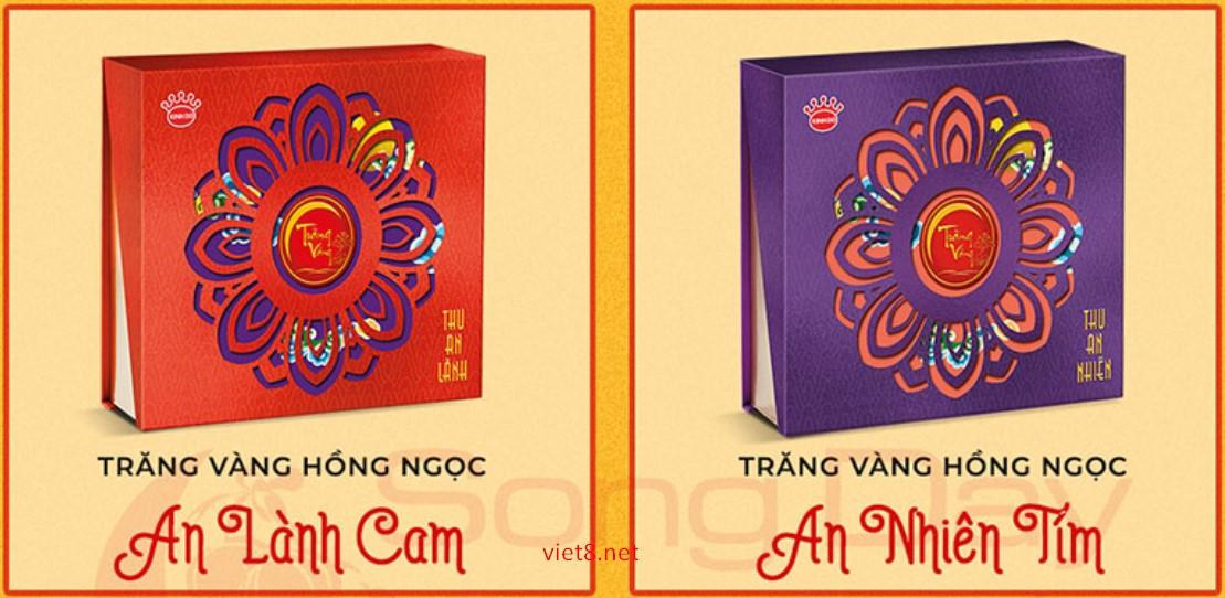 Mấu hộp bánh trung thu kinh đô An Lành Cam- An Nhiên Tím