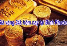 Giá vàng 24k hôm nay tại Bình Phước