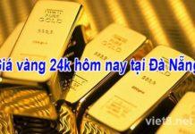 Giá vàng 24k hôm nay tại Đà Nẵng