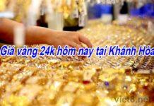 Giá vàng 24k hôm nay tại Khánh Hòa