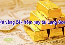Giá vàng 24k hôm nay tại Lạng Sơn