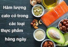Hàm lượng calo trong các loại thực phẩm hàng ngày