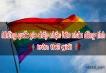 Những quốc gia chấp nhận hôn nhân đồng tính trên thế giới