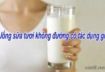 Uống sữa tươi không đường có tác dụng gì đối với sức khỏe?