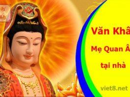 Văn khấn Phật Bà Quan Âm tại nhà