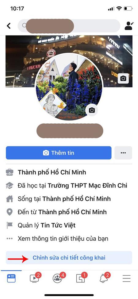Cách ẩn ngày sinh trên facebook bằng điện thoại ảnh 3