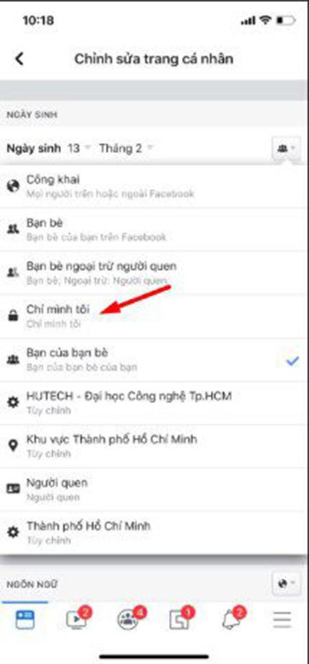 Cách ẩn ngày sinh trên facebook bằng điện thoại ảnh 6