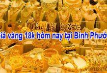 Giá vàng 18k hôm nay tại Bình Phước