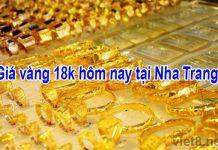 Giá vàng 18k hôm nay tại Nha Trang