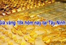 Giá vàng 18k hôm nay tại Tây Ninh