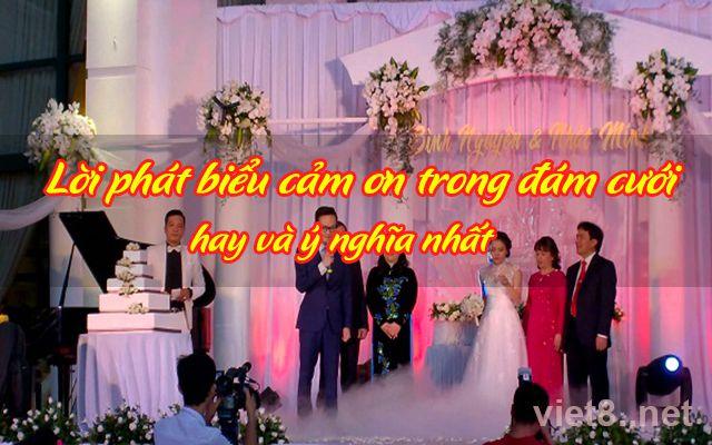 Lời phát biểu cảm ơn trong đám cưới