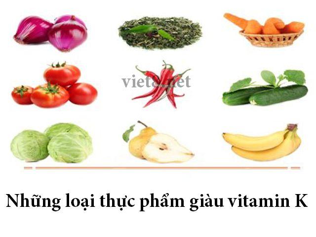 Những loại thực phẩm giàu vitamin K