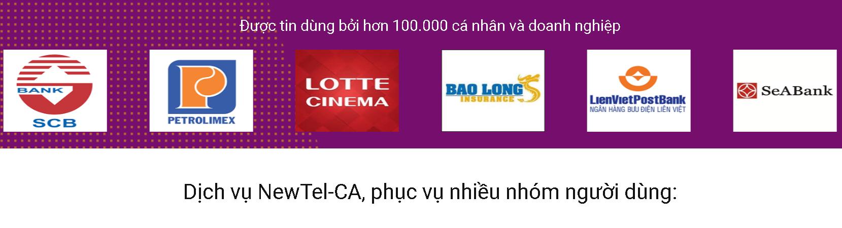 Chữ ký số Newca phục vụ nhiều nhóm khách hàng