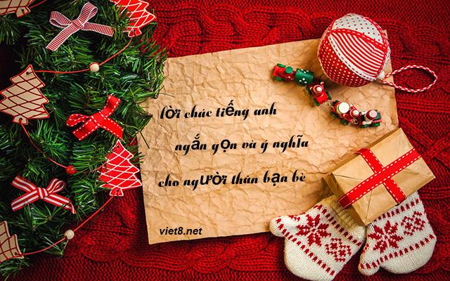 Lời chúc giáng sinh bằng tiếng anh ngắn gọn hay và ý nghĩa