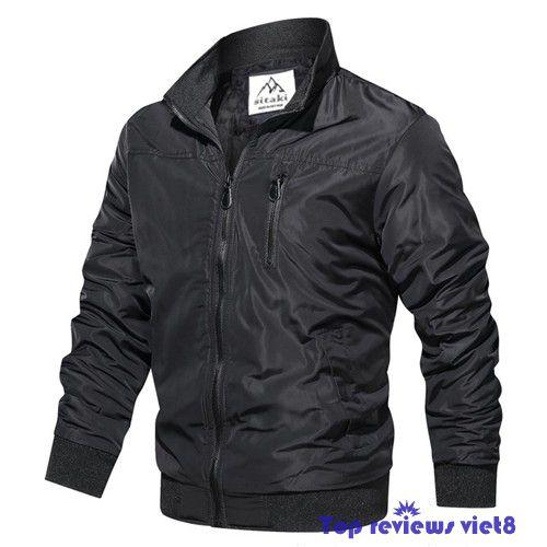 áo khoác chống nắng mưa phối dây kéo ngực - 1