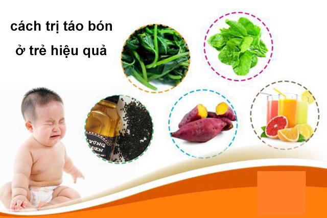 cách trị táo bón ở trẻ sơ sinh