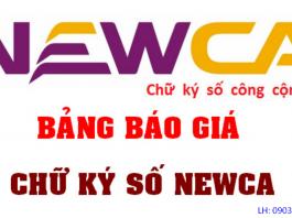 Bảng giá chữ ký số Newca