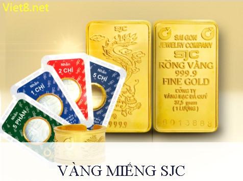 Bảng giá vàng SJC mới nhất hôm nay