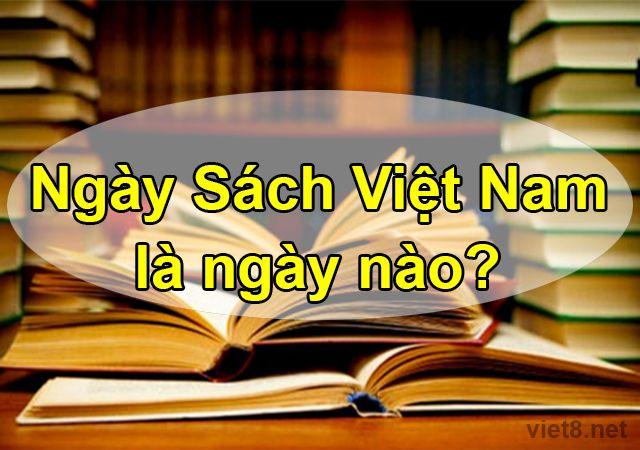Ngày Sách Việt Nam là ngày nào